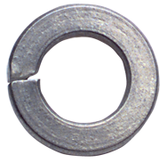 1-1/8 Bolt Size - Zinc Plated Carbon Steel - Lock Washer