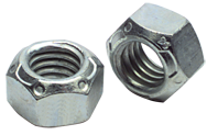 7/8-9 - Zinc / Bright - Nylon Insert Stop Nut