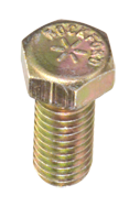 1-1/4-7 x 10 - Zinc / Yellow Plated Heat Treated Alloy Steel - Cap Screws - Hex