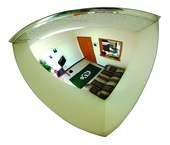 "8"" Inspection Convex Mirror With Handle & Light"