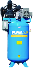 80 Gallon Vertical Tank Two Stage Belt Drive;7.5HP 230V 1PH W/Starter; 22.8CFM@175PSI; 600lbs.