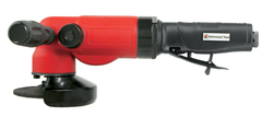 "#UT8785-4 - 4"" Right Angle - Air Powered Grinder - Side Exhaust"