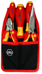 "5 Piece - Insulated Belt Pack Pouch Set with 6.3"" Diagonal Cutters; 8"" Long Nose Pliers; Slotted 3.0; 4.5 and Phillips # 2 Screwdrivers in Belt Pack Pouch"