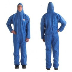 4515 MED BLUE DISPOSABLE COVERALL