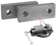 Machinable Aluminum and Steel Vice Jaws - SBM - Part #  VJ-402