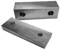 Machined Aluminum Vice Jaws - SBM - Part #  VJ-6A060202M