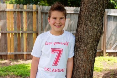 oklahoma white Love Yourself Tee