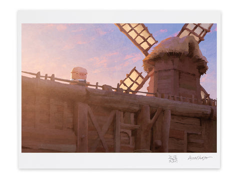 Pig and the Windmill Museum Print