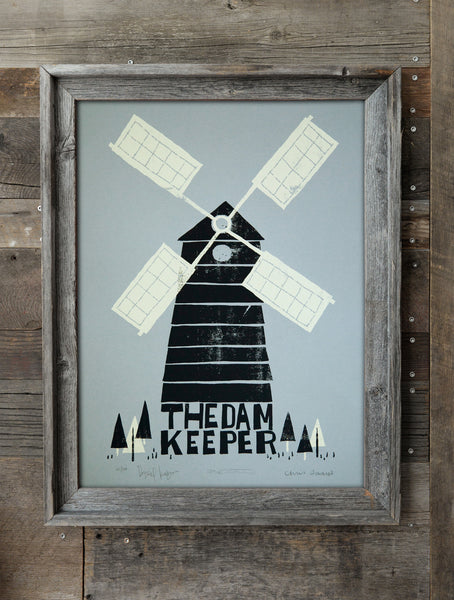 The Windmill Silkscreen Print (Blue) *