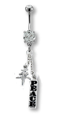 Asian Peace Belly Ring