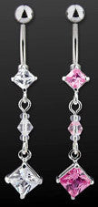 Diamond Quest belly ring - pink only