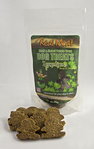 Real Meat Leprechaun's Duck and Sweet Potato Cookies 4 oz.