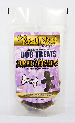 Real Meat Zombie Apocalypse Beef, Oatmeal and Molasses Cookies 4 oz.