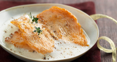 Salmon Escalope with Champagne Nage