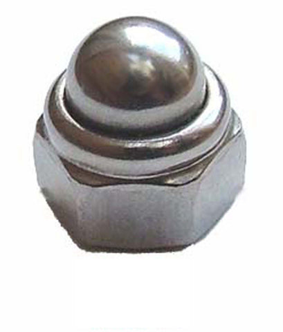 A2 Metric Stainless Steel Dome Nyloc Nuts DIN 986