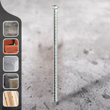 Multi-Fix Concrete Screws - Bright Zinc