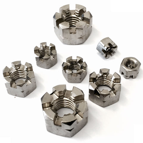 Hexagon Castle Nut A2 Stainless Steel DIN 935