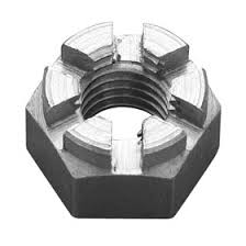 Hexagon Slotted Castle Nut Self Colour DIN 935