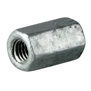 Hexagon Studding Connector Nut Galvanised DIN 6334