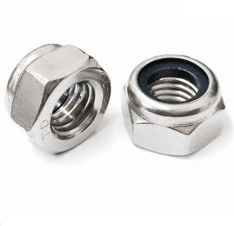 Nyloc Nuts - Type T Metric Fine Pitch A2 Stainless Steel DIN 985