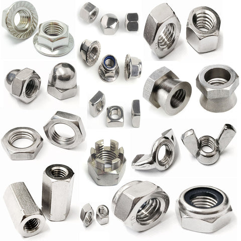 Stainless Steel Nuts A2 & A4. All Types