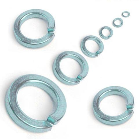M4 Square Section Spring Washer, Bright Zinc Plated, DIN 7980