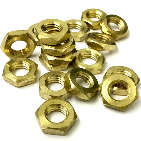SOLID BRASS Lock Nuts ( Half Nut ) DIN 439