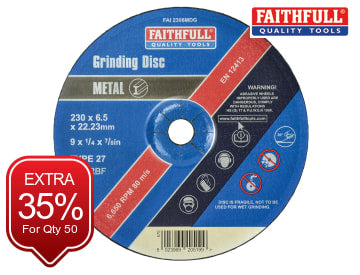 Depressed Centre Metal Grinding Disc 230 x 6.4 x 22.23mm FAI2306MDG