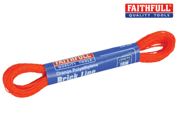 Faithfull 300 Polyethylene Brick Line 18m (59ft) Orange (Box of 12)  - FAI300