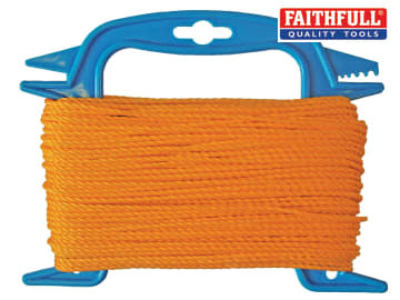 Faithfull 306 Polyethylene Ranging Line 30m (100ft) Orange - FAI306
