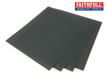 Faithfull Wet & Dry Paper Sanding Sheets 230 x 280mm C180 (25) - FAIAWDP180