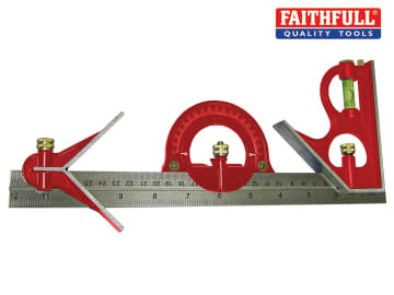 Faithfull Combination Square Set 300mm (12in) - FAICS300SET
