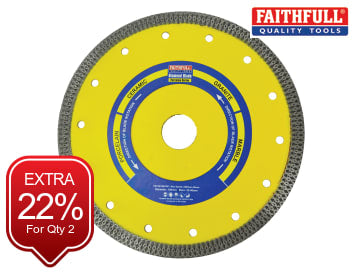 Faithfull  Porcelain Diamond Blade 180 x 25.4mm - FAIDB180CRP