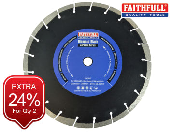 Faithfull Abrasive Diamond Blade 300 x 20mm - FAIDB300ABR