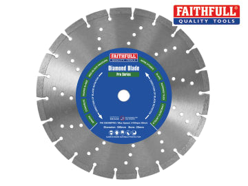 Faithfull Professional Diamond Blade 300 x 20mm - FAIDB300PRO