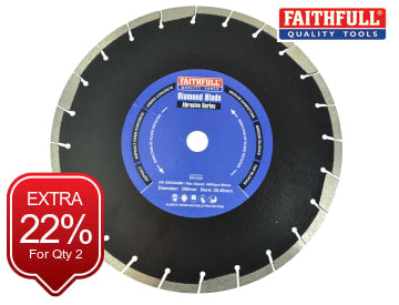 Faithfull Abrasive Diamond Blade 350 x 25.40mm - FAIDB350ABR