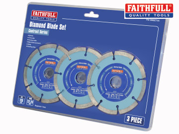 Faithfull Contract Diamond Blades 115 x 22.2mm (Pack 3) - FAIDBSET3C