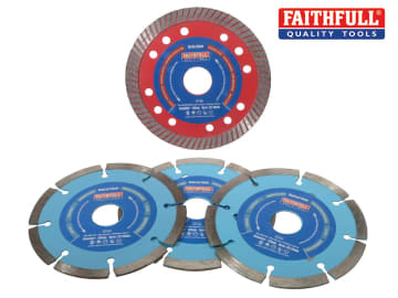 Faithfull Diamond Blade Set of 4 - FAIDBSET4CT