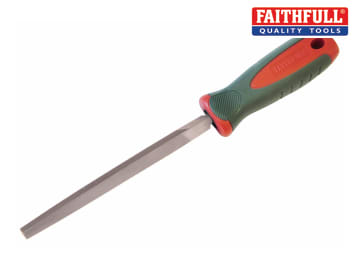 Faithfull Three-Square Second Cut Engineers File 150mm (6in) - FAIFITSSC6