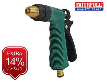 Faithfull Garden Hand Spray Gun Zinc Body - FAIHOSEGSGUN