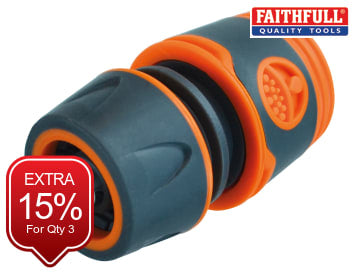 Faithfull Plastic Water Stop Hose Connector 1/2in - FAIHOSEPLWC