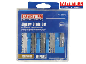 Jigsaw Blade Set of 10 Assorted FAIJBSET10