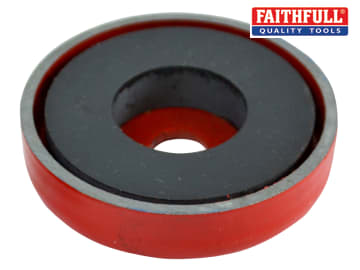 Faithfull Shallow Magnet 50.8 x 8.0mm Power 10.0kg - FAIMAGSM508