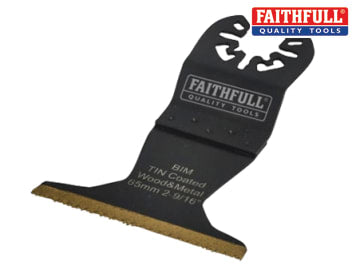 Faithfull Multi-Functional Tool Bi-Metal Flush Cut TiN Coated Blade 65mm - FAIMFBM65