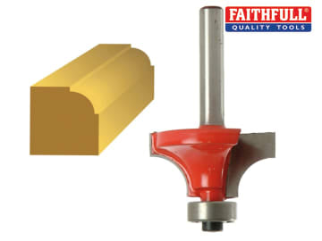 Faithfull  Router Bit TCT 9.5mm Rounding Over 1/4in Shank - FAIRB111