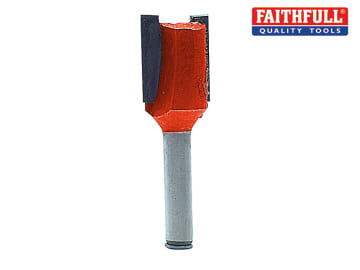 Faithfull Router Bit TCT Two Flute 15.9 x 19mm 1/4in Shank - FAIRB213
