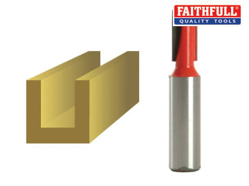 Faithfull Router Bit TCT Two Flute 10.0 x 19mm 1/2in Shank - FAIRB220