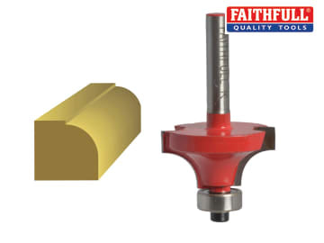 Faithfull  Router Bit TCT Rounding Over 15.8mm x 9.5mm 1/4in Shank - FAIRB41