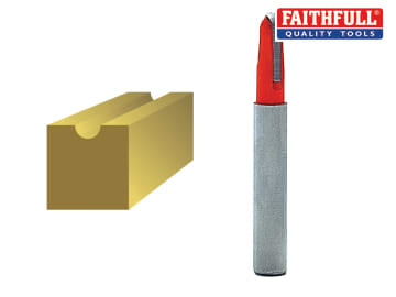 Faithfull Router Bit TCT Radius 3.0 x 15mm 1/4in Shank - FAIRB61