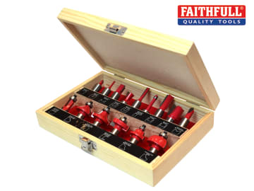 Faithfull 1/2in TCT Router Bit Set, 15 Piece - FAIRBS15
